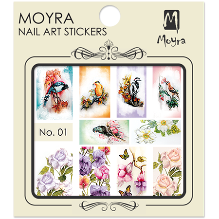 Moyra Nail art sticker No. 01