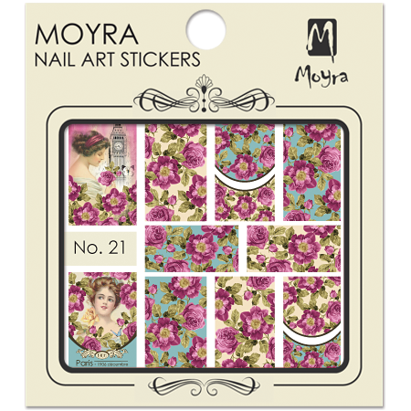 Moyra Nail art sticker No. 21