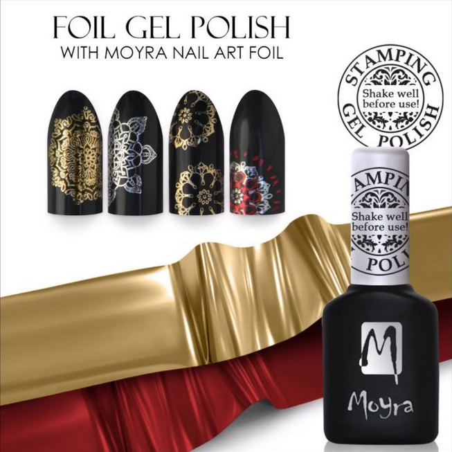 Moyrastamping moyra nail art stamping system foil gel polish with moyra nail art foil prinsesfo Images
