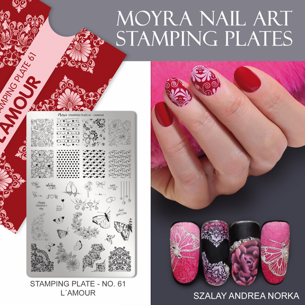 L Amour Moyra Nail Art Stamping Plate