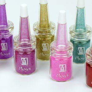 Glitter powders in bottle