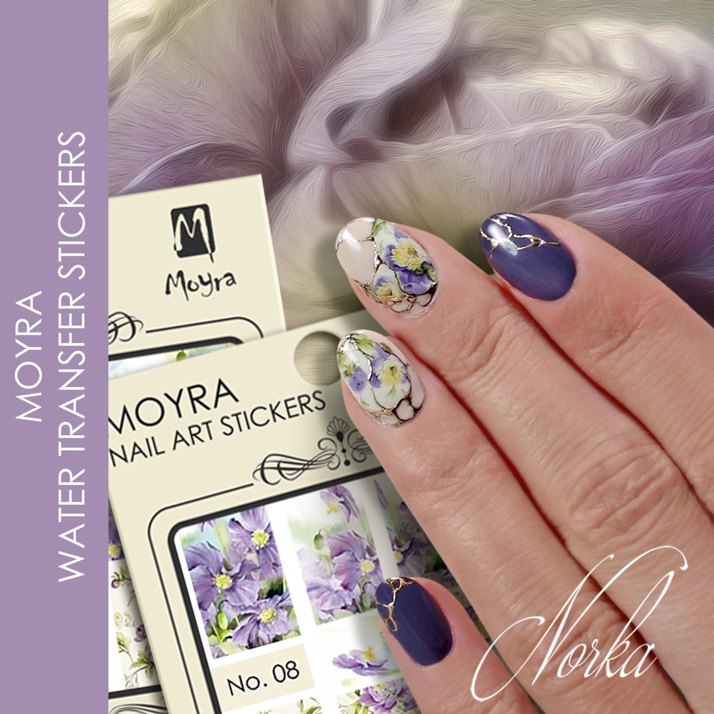 Nail design with Moyra Nail Art Sticker No. 08