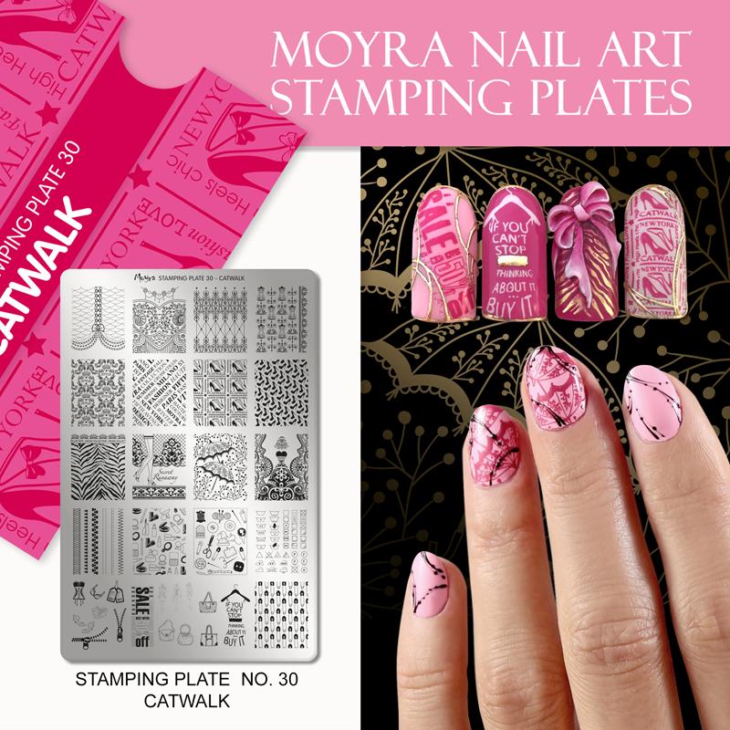 Moyra Nail Art Stamping Plate No. 30 Catwalk