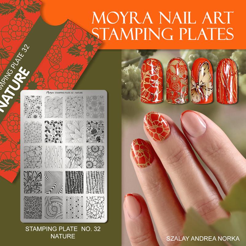 Moyra Nail Art Stamping Plate No. 32 Nature