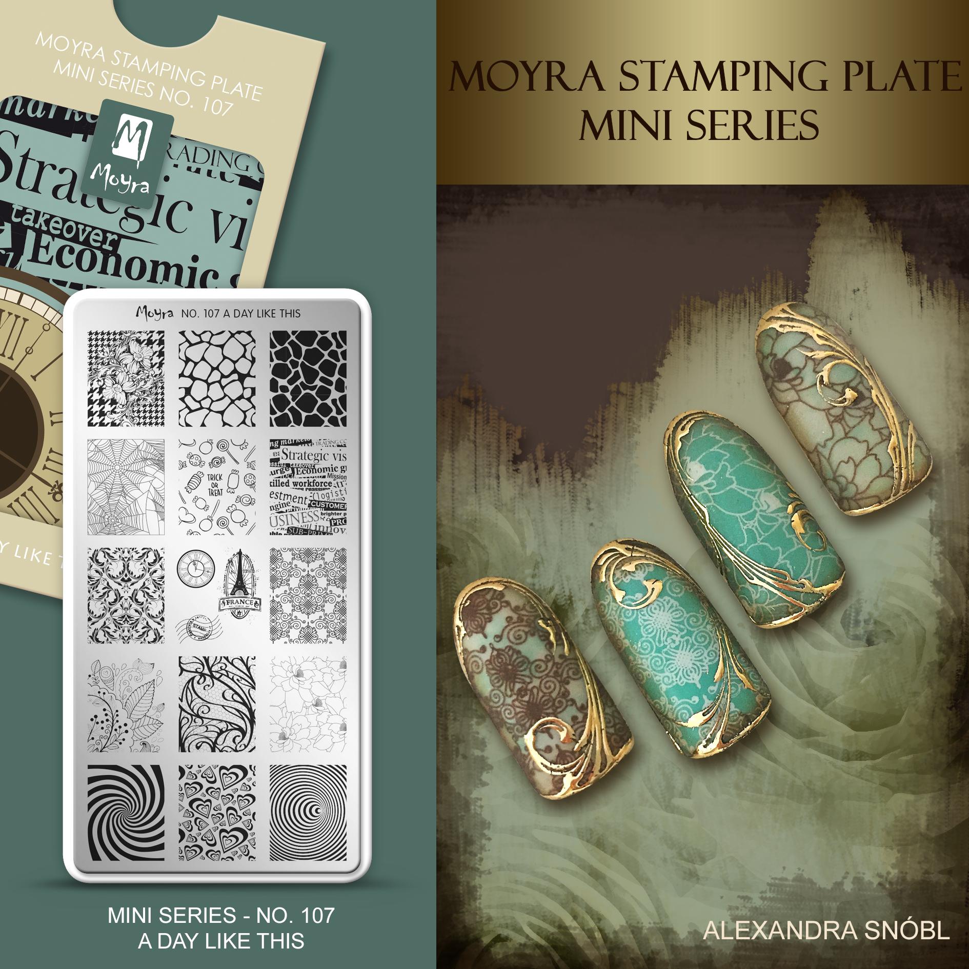 Moyra Nail Art Stamping Plate Mini Series No. 107 A day like this
