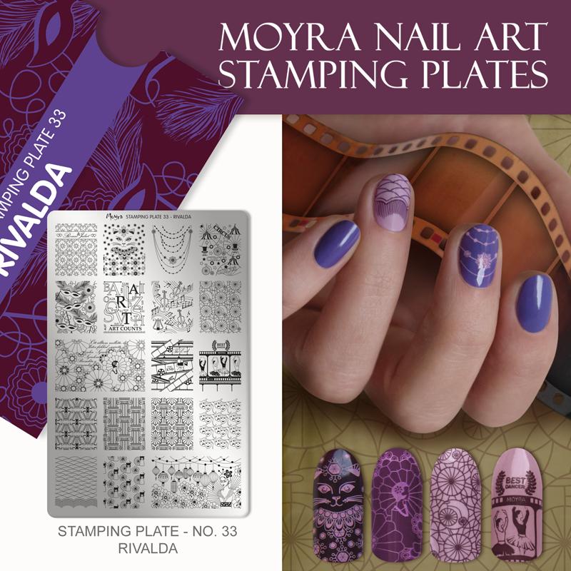 Moyra Nail Art Stamping Plate No. 33 Rivalda
