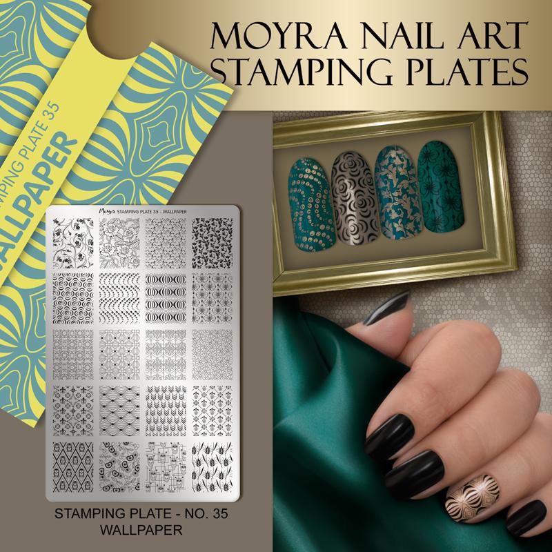 Moyra Nail Art Stamping Plate No. 35 Wallpaper