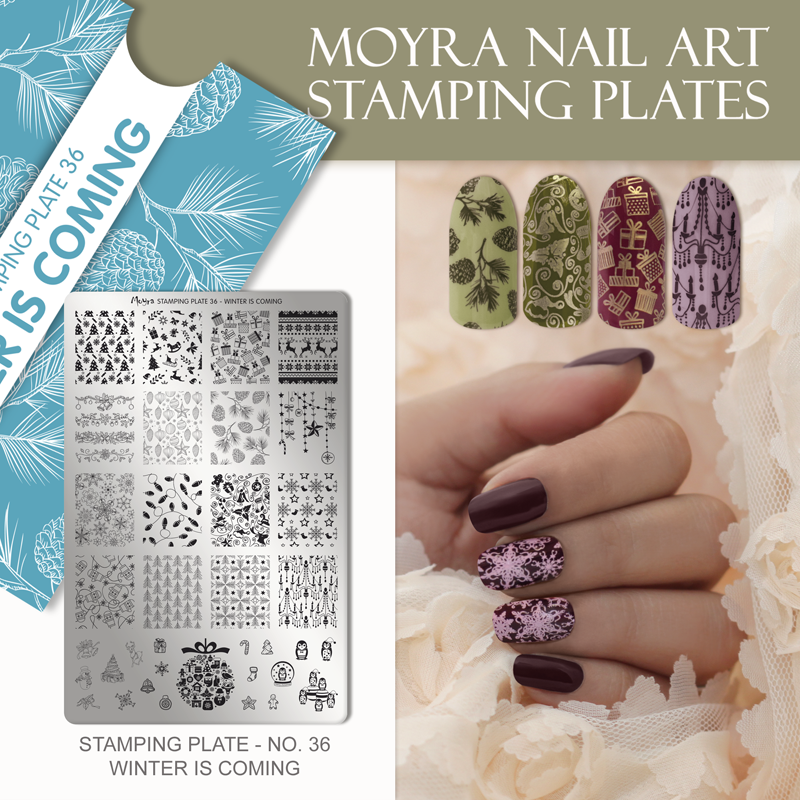 Moyra Nail Art Stamping Plate No. 36 Winter is coming