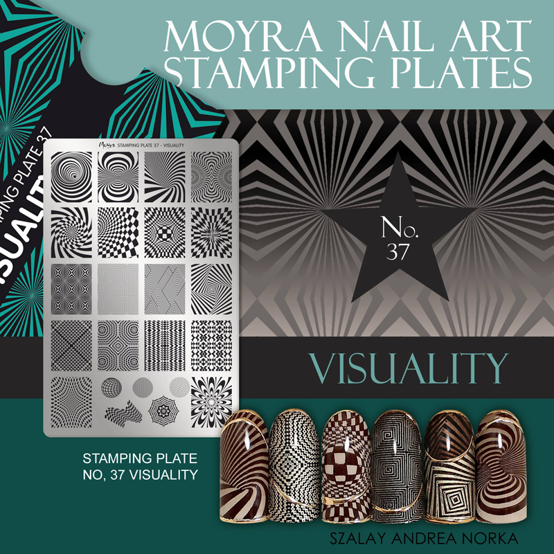 Moyra Nail Art Stamping Plate No. 37 Visuality