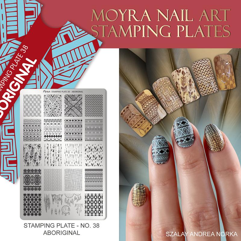 Moyra Nail Art Stamping Plate No. 38 Aboriginal