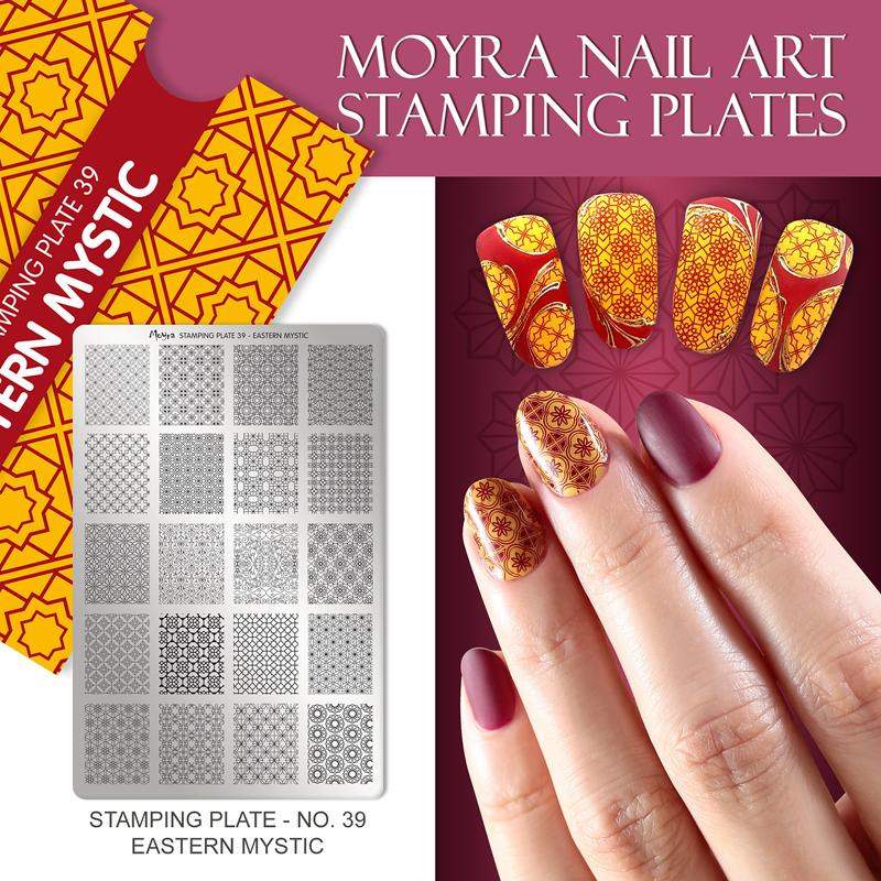 Moyra Nail Art Stamping Plate No. 39 Eastern Mystic