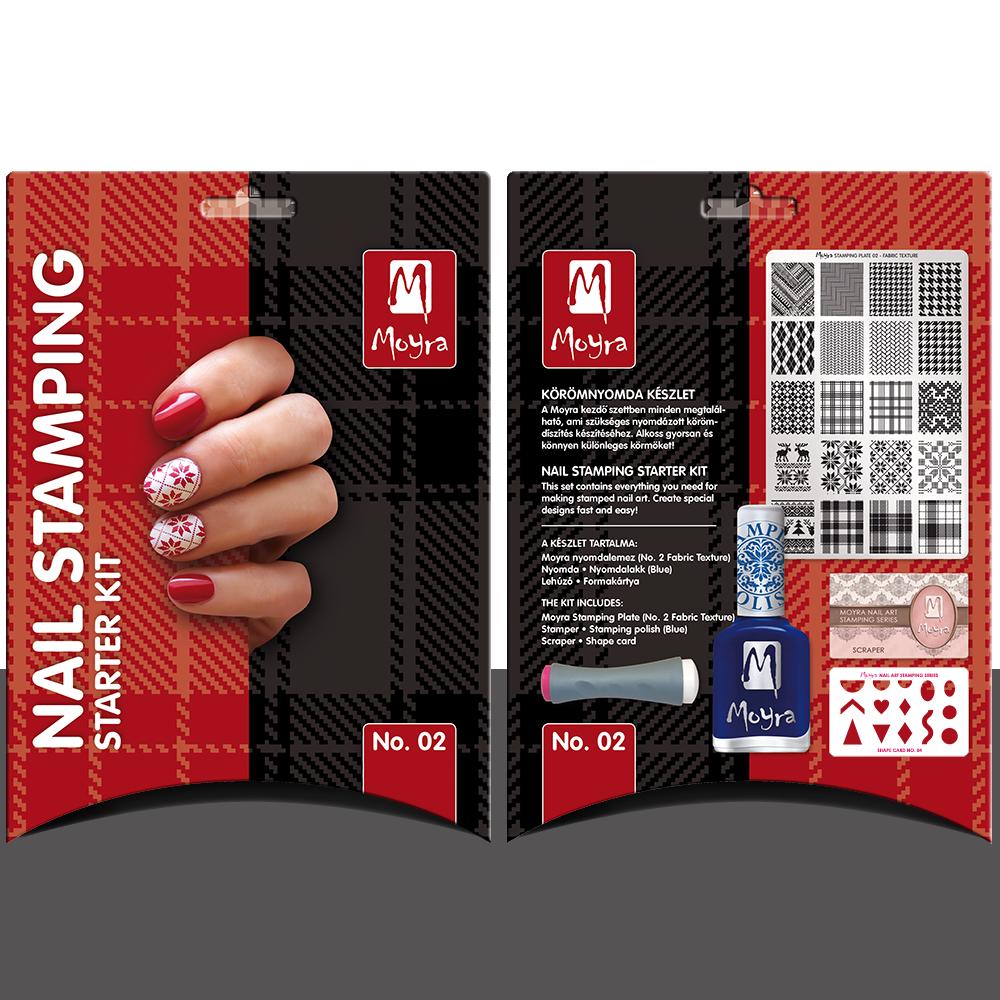 Nail stamping starter kit No. 02