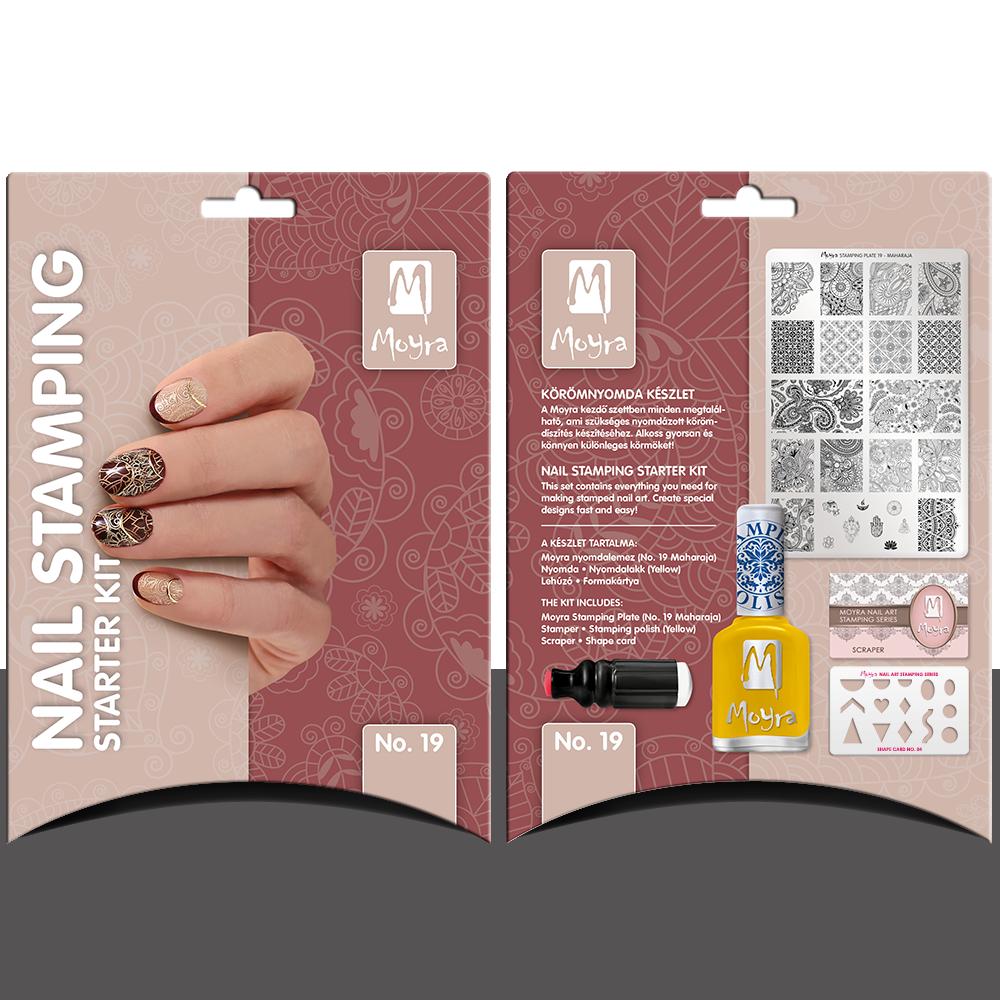 Nail stamping starter kit No. 19