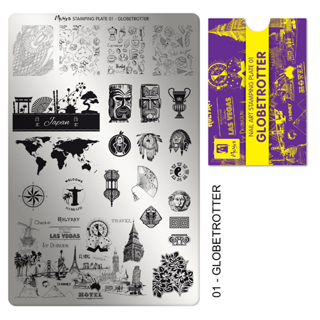 Moyra Stamping Plate 01 Globetrotter