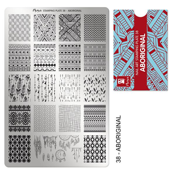 Moyra Stamping Plate 38 Aboriginal
