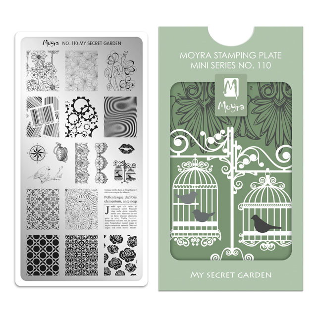 Moyra mini stamping plate 110 My Secret Garden