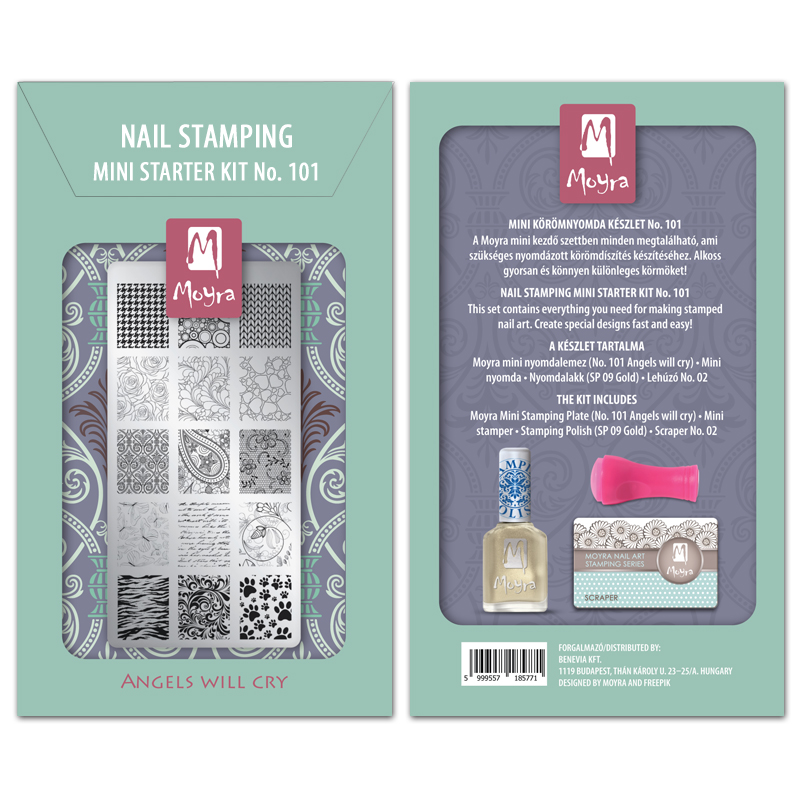 Mini nail stamping starter kit No. 101