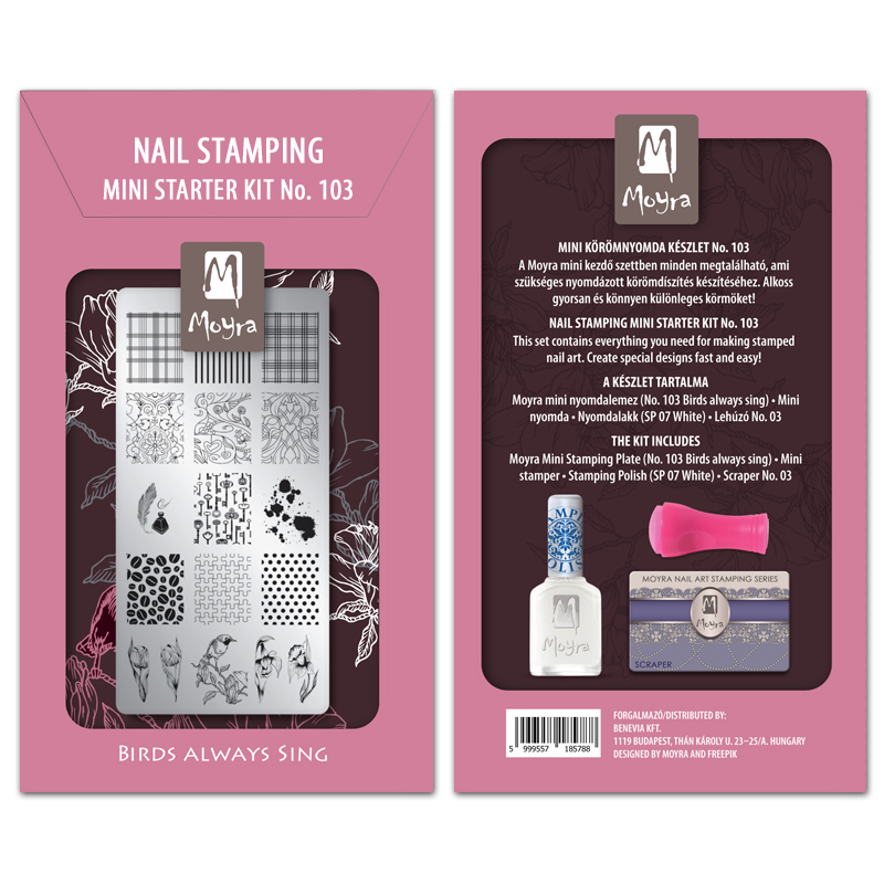 Mini nail stamping starter kit No. 103
