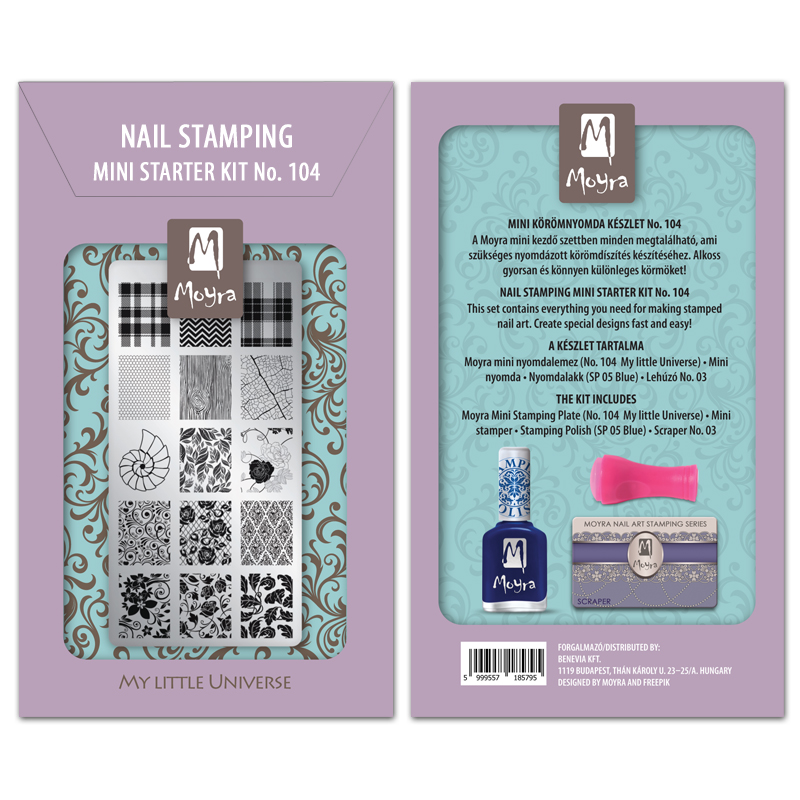 Mini nail stamping starter kit No. 104