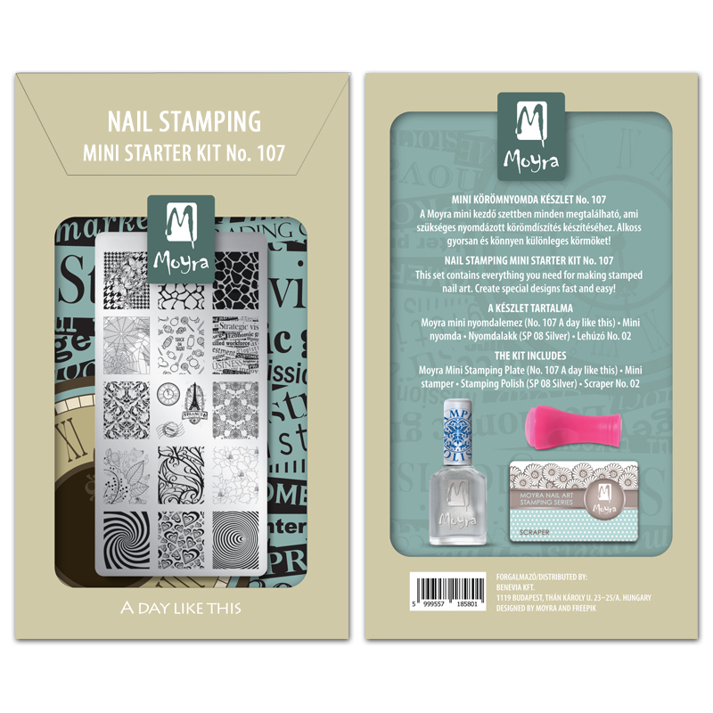 Mini nail stamping starter kit No. 107
