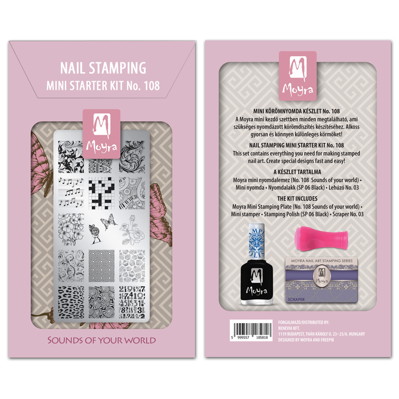 Mini nail stamping starter kit No. 108