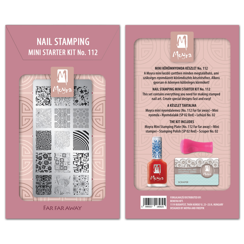Mini nail stamping starter kit No. 112