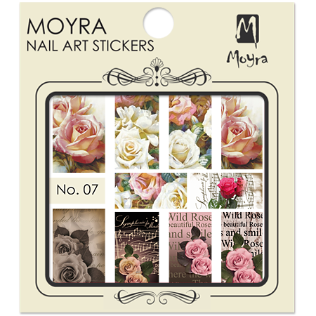 Moyra Nail art sticker No. 07