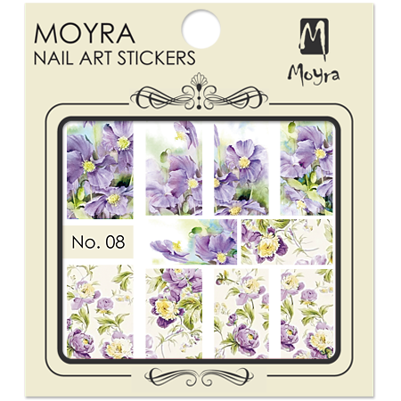 Moyra Nail art sticker No. 08