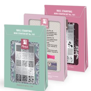 Mini nail art stamping starter kits
