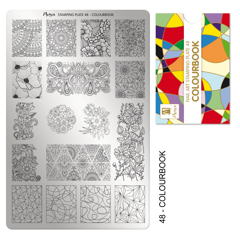 Moyra stamping plate 48 Colour book