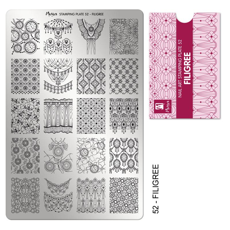 Moyra stamping plate 52 Filigree