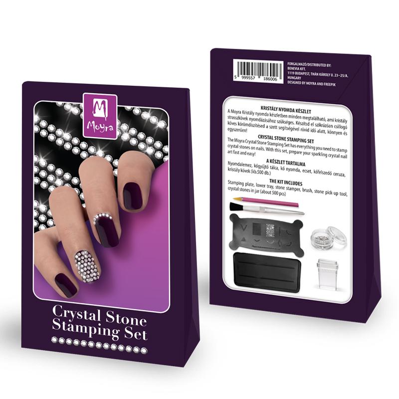 Crystal stone stamping set