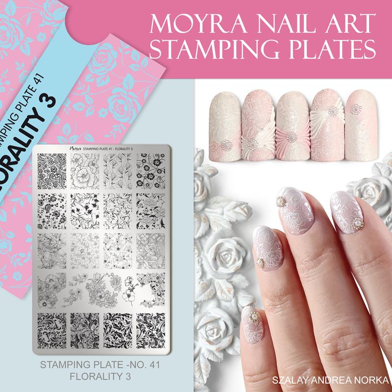 Moyra Nail Art Stamping Plate No. 41 Florality 3