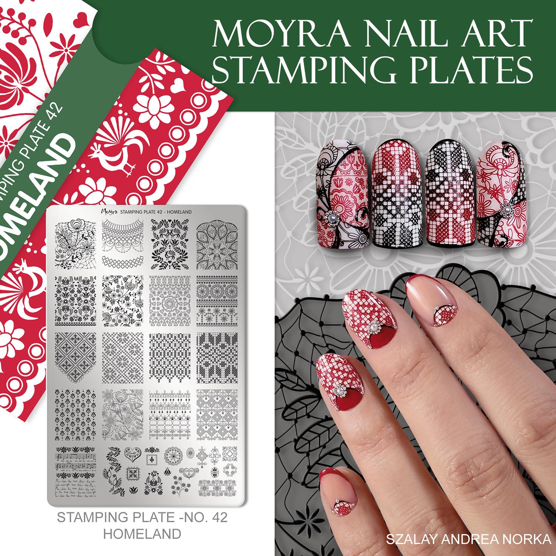 Moyra nail art Stamping plate No. 42 Homeland