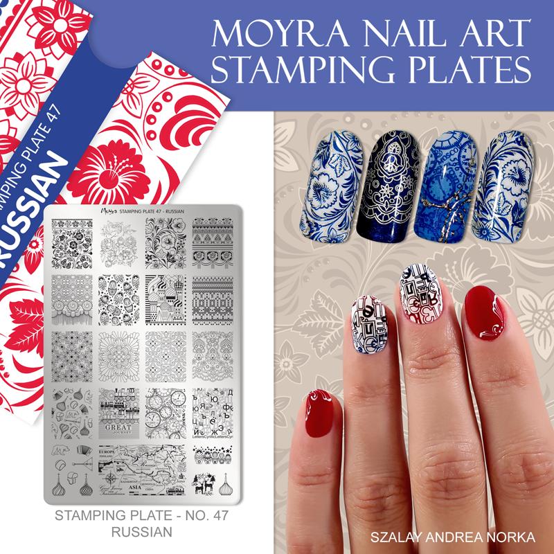Moyra Nail Art Stamping Plate No. 47 Russian