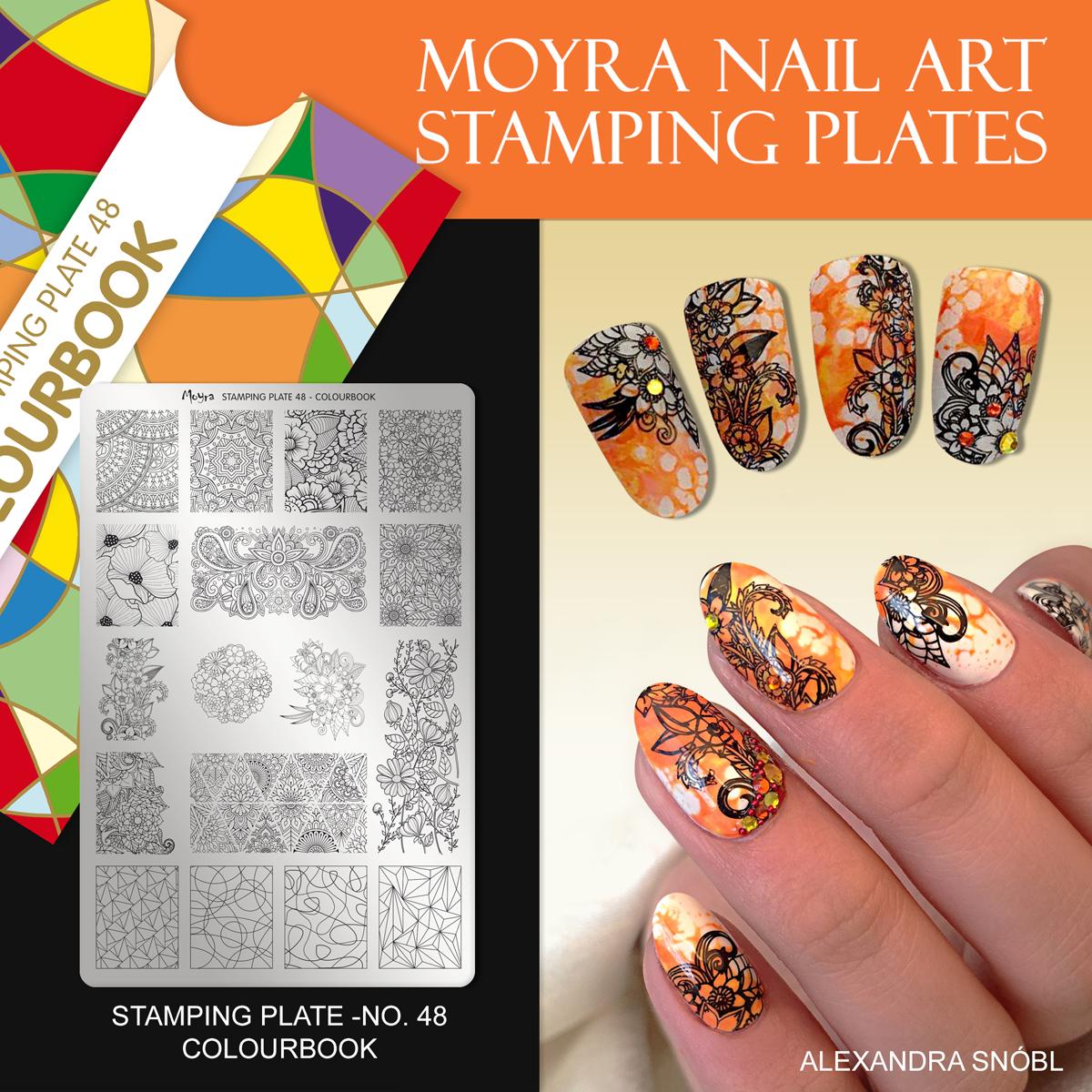 Moyra Nail Art Stamping Plate No. 48 Colourbook