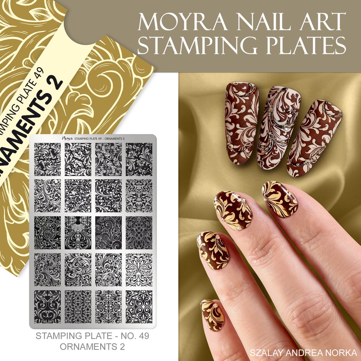 Moyra Nail Art Stamping Plate No. 49 Ornaments 2