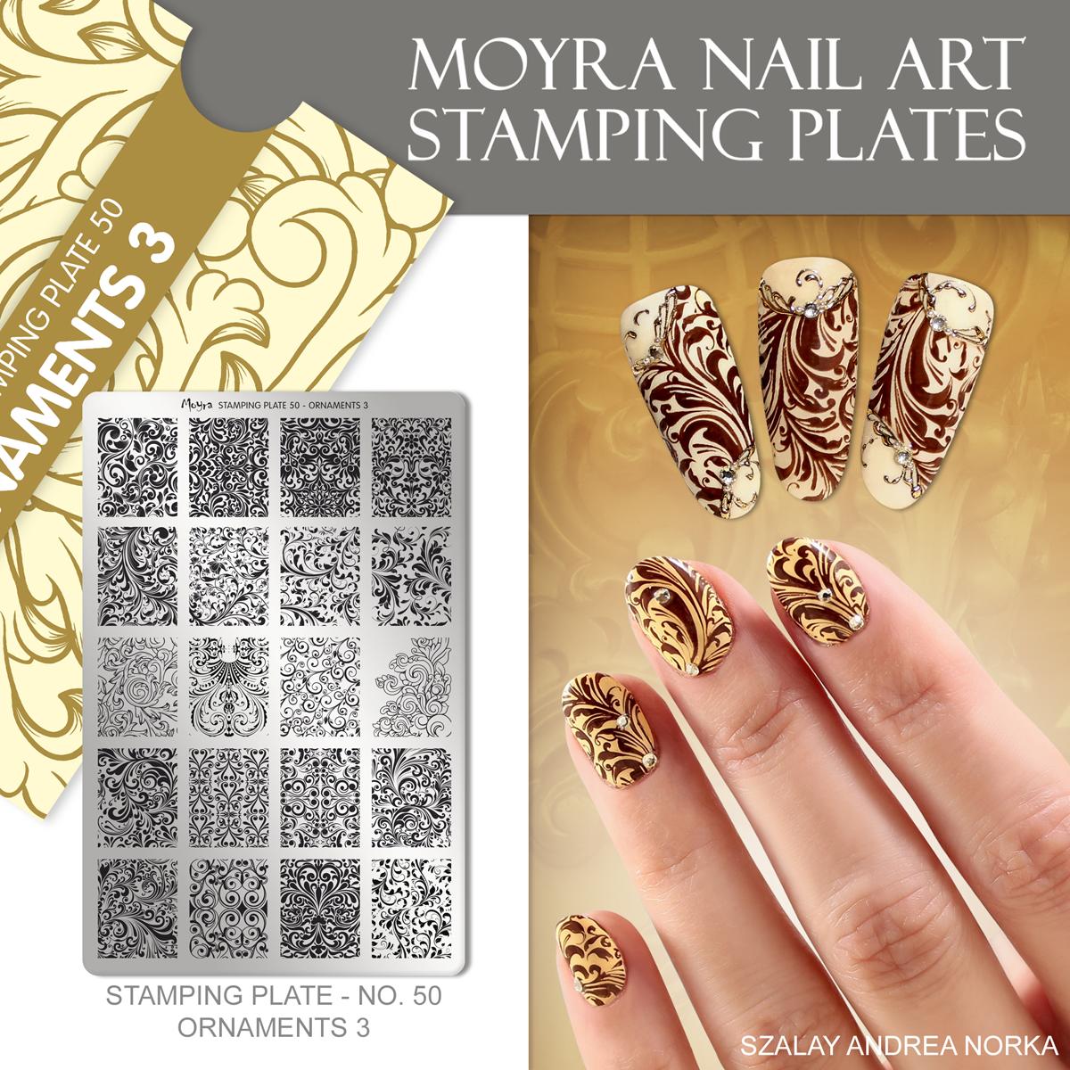 Moyra Nail Art Stamping Plate No. 50 Ornaments 3
