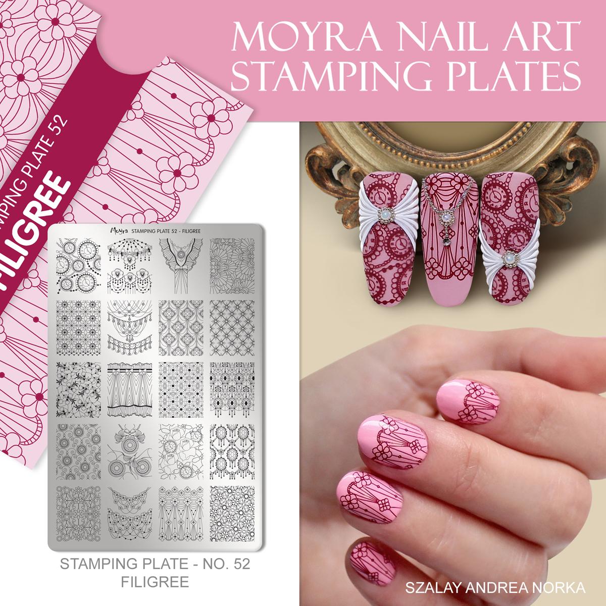 Moyra Nail Art Stamping Plate No. 52 Filigree