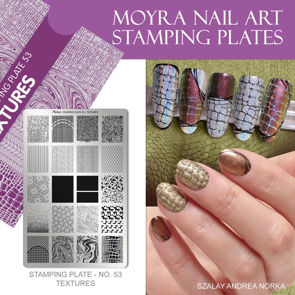 Moyra Nail Art Stamping Plate No. 53 Textures