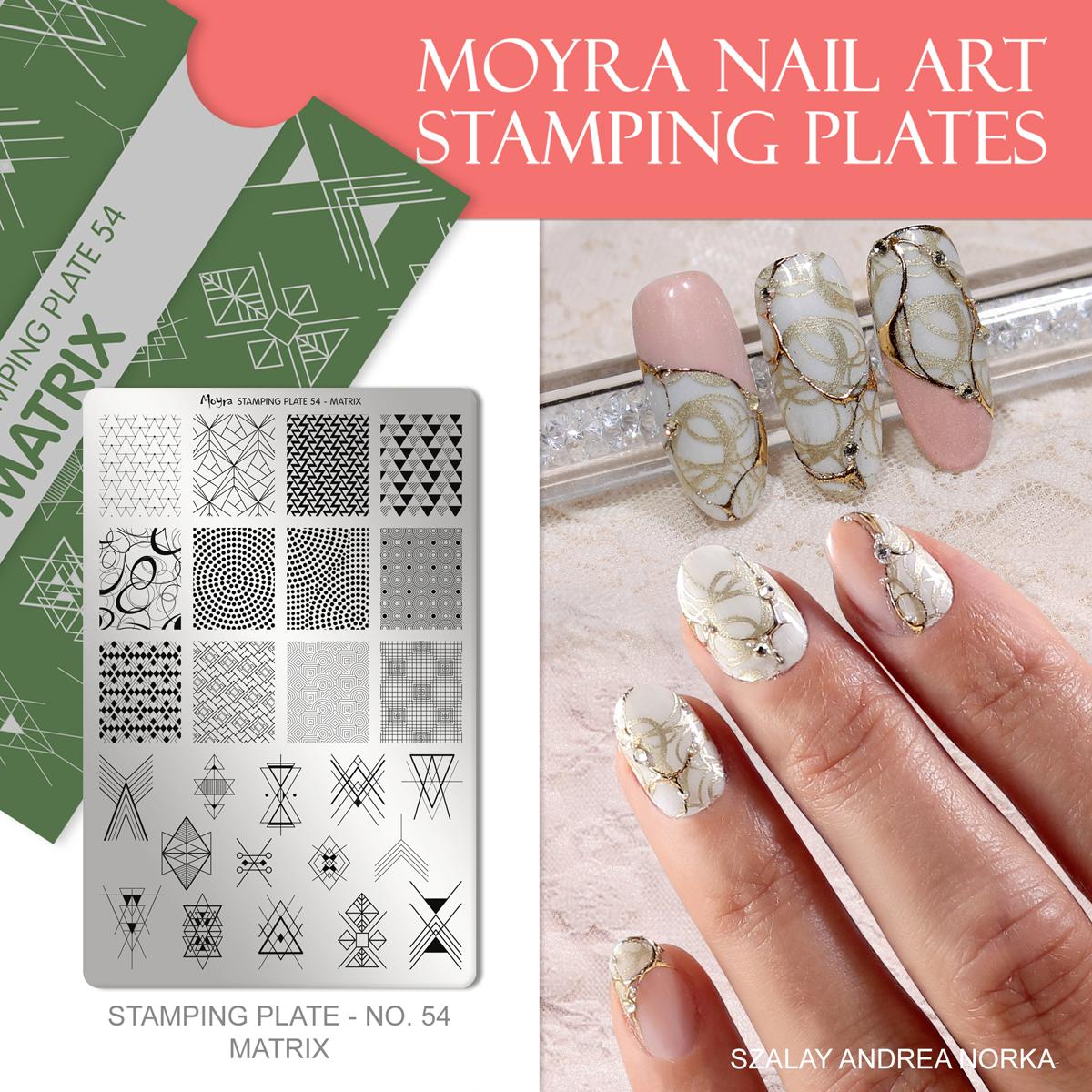 Moyra Nail Art Stamping Plate No. 54 Matrix