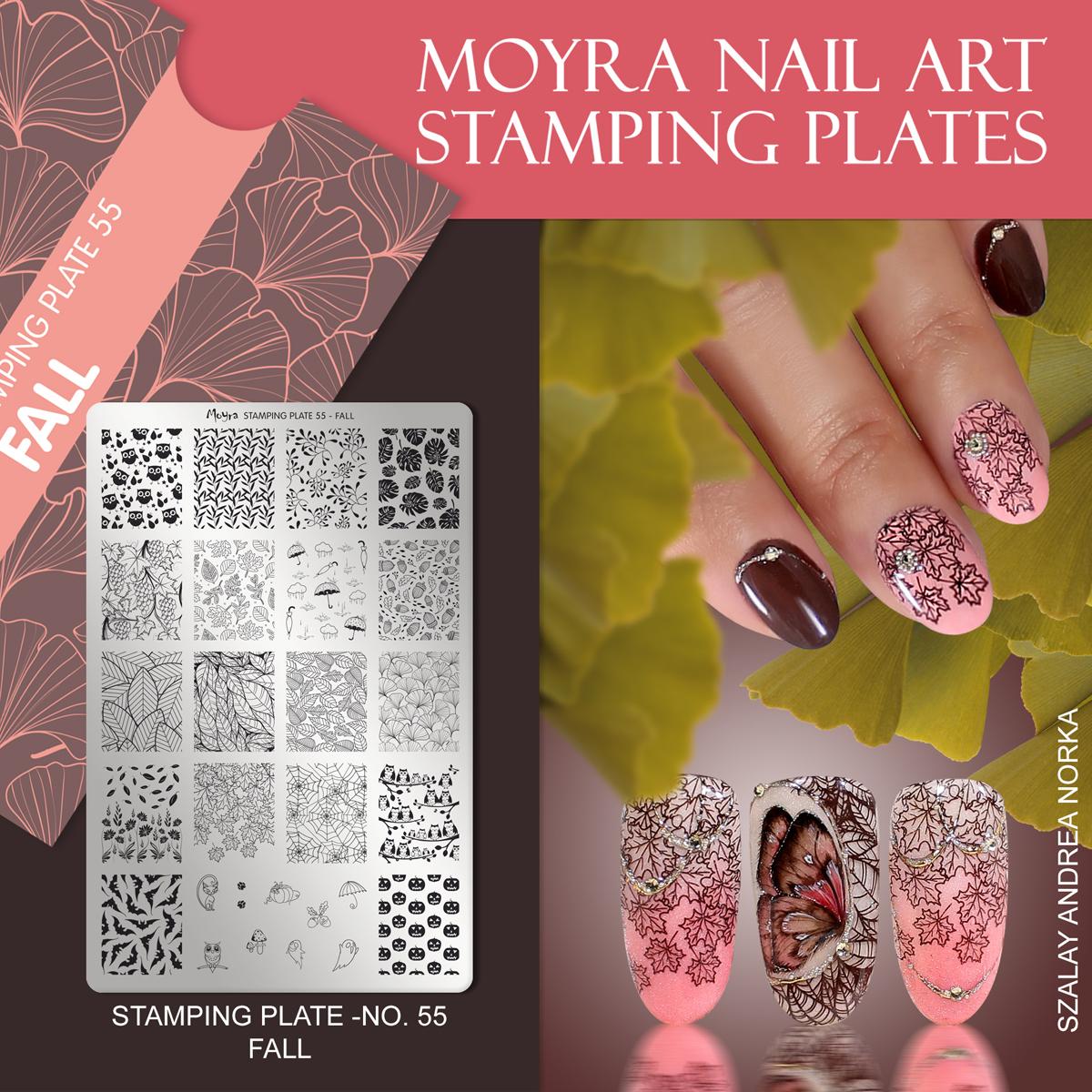 Moyra Nail Art Stamping Plate No. 55 Fall