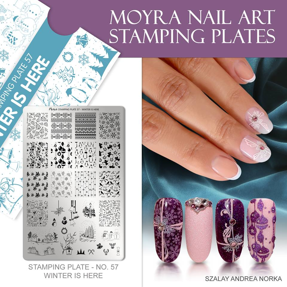 Moyra Nail Art Stamping Plate No. 57 Winter is here
