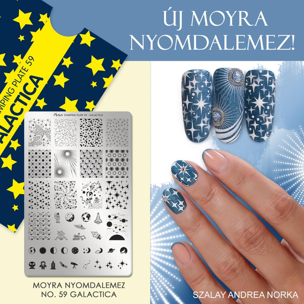 Moyra Nail Art Stamping Plate No. 59 Galactica