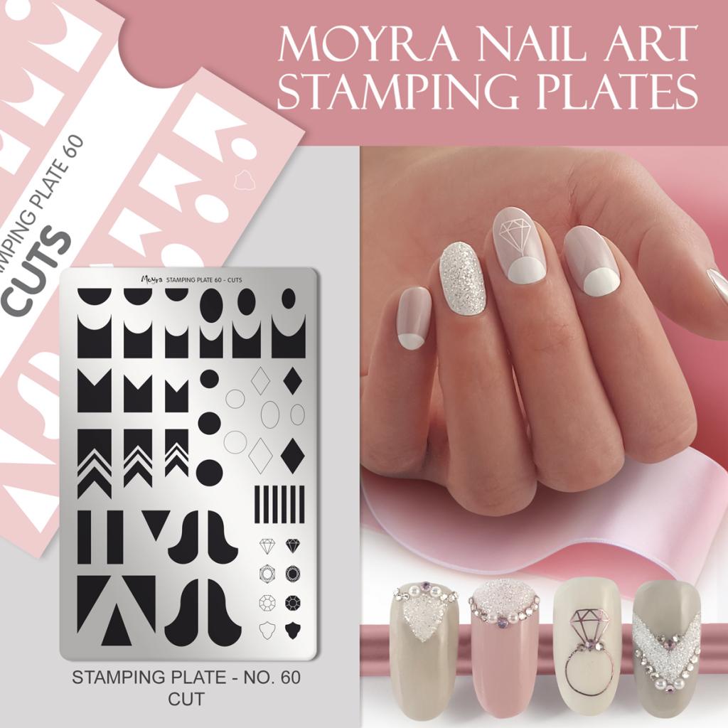 Moyra Nail Art Stamping Plate No. 60 Cuts