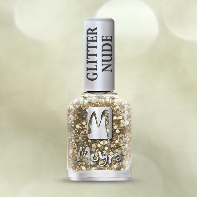 Glitter Nude effect nail polish