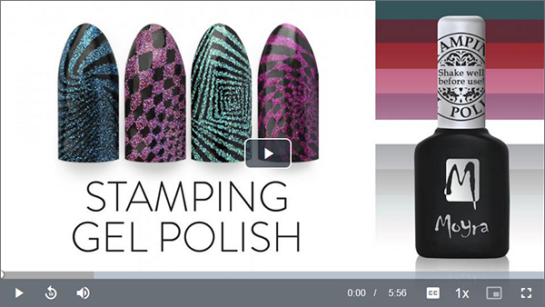 How To Use Moyra Stamping Gel Polish tutorial video