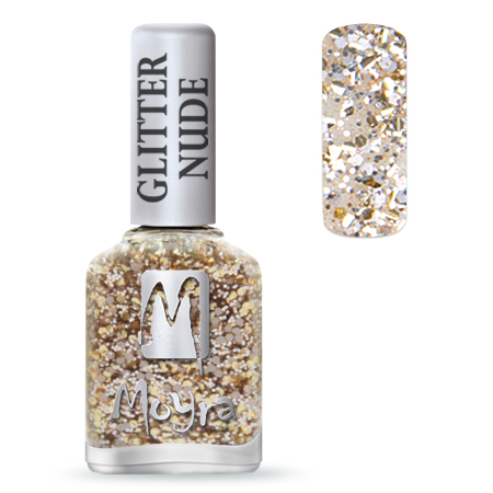 Glitter Nude effect nail polish No. 392 Champagne