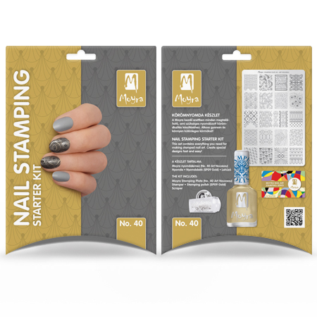 Nail stamping starter kit No. 40