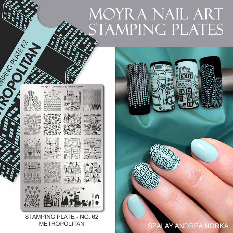 Moyra Nail Art Stamping Plate No. 62 Metropolitan